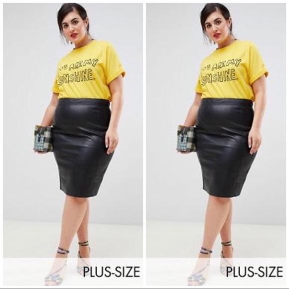 Skirts | Faux Leather Skirt Plus Size 3x | Poshmark